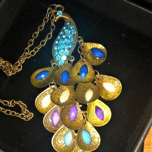 Jewelry - Peacock Antiqued Bronze Finish Octopus Pendant